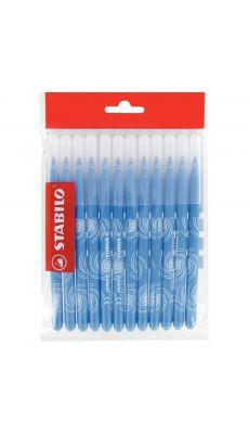 STABILO - Recharge pour schoolpack de 12 feutres Power pointe moyenne bleu clair