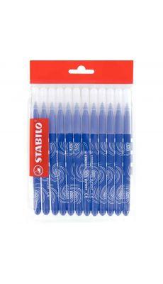 STABILO - Recharge pour schoolpack de 12 feutres Power pointe moyenne bleu foncé