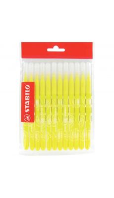 STABILO - Recharge pour schoolpack de 12 feutres Power pointe moyenne jaune