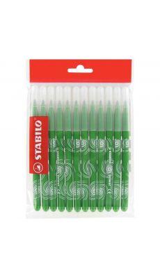STABILO - Recharge pour Schoolpack de 12 feutres Power pointe moyenne vert