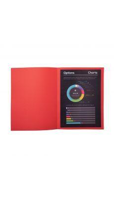 Exacompta - 210012E - Chemise 210g Rock's 220 - Rouge - Format 24x32 cm - Paquet de 100