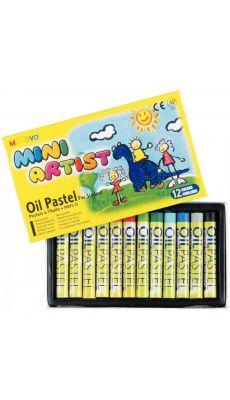 OZ INTERNATIONAL - 014010 - Craies pastels à l'huile Mini Artist - Boite de 12