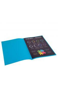 Exacompta - 800019E - Sous-chemise 80g Rock's - Bleu - Format 22x31 cm - Paquet de 100