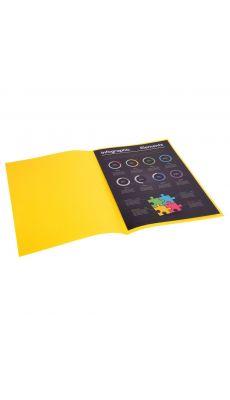Exacompta - 800011E - Sous-chemise 80g Rock's - Citron - Format 22x31cm - Paquet de 100