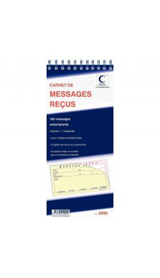 LEBON & VERNAY - 2090 - Carnet Lebon & Vernay message recu autocopiant - 160 messages