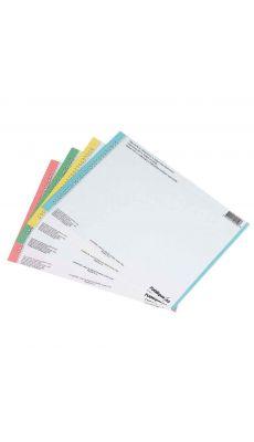L'OBLIQUE - 125600 - Etiquette N° 8  pour Dossier suspendu armoire - Bleu - Sachet de 10 Planches