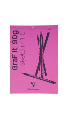 Clairefontaine - 96623C - Bloc croquis blanc Graf It - A4