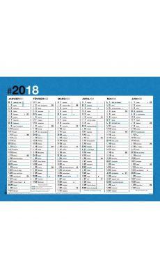 OBERTHUR - 270303 - Calendrier color bloc 27 x 21 cm bleu - Format : 27 x 21 cm