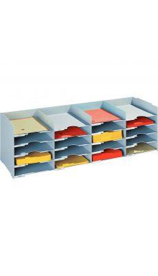 PAPERFLOW - 541/02 - Trieur 20 cases format A4 pour armoire - Gris