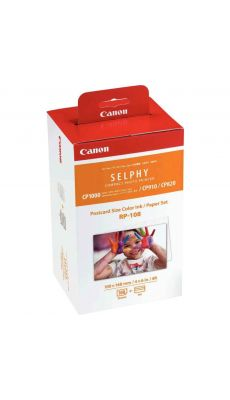 Canon - RP-108 - Kit Papier + Encre 108 feuilles 10x15cm