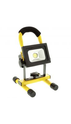 Projecteur LED mobile 10 W 700 lm Noir/Jaune