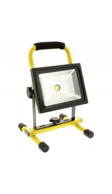 Projecteur LED mobile 20 W 1400 lm Noir / Jaune