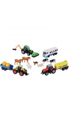 Coffret MAJORETTE véhicules et animaux de la ferme 16 pièces