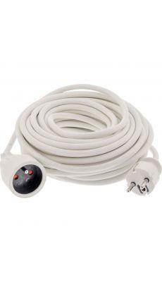 Rallonge électrique blanche de 15m