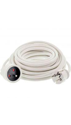 Rallonge électrique blanche de 10m