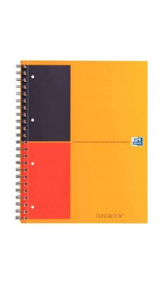 OXFORD - 100102000 - Cahier FILINGBOOK connecté à reliure intégrale 200 pages format A4+ 80g - ligné 6 mm