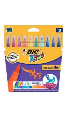 Bic kids - 001553 - Feutre Visaquarelle pointe pinceau assorti - Pochette de 10
