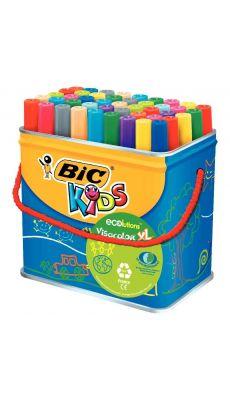 BIC - 249271 - Feutre Visacolor XL ecolution assorti - Maxi pot de 48