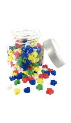 Perle fantaisie 5 coloris assorti - sac de 500