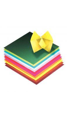 Papier pliage 20x20 assorti - pochette de 100