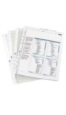 Elba - 100 206 872 - Pochette perforée polypropyléne bords blanc - A4 - Sachet de 10
