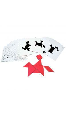 Fiche modele pour tangram - sachet de 28