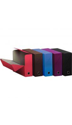 FAST - 400095517 - Boite de transfert en carton - papier mat lisse - dos 9 cm - coloris assortis - Carton de 5