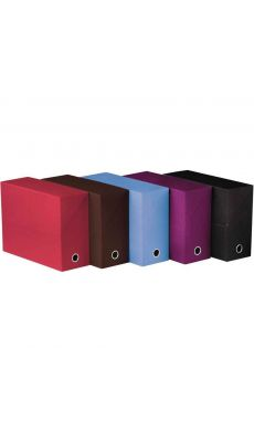 FAST - 400095518 - Boite de transfert en carton - papier mat lisse - dos 12 cm  - coloris assortis - Carton de 5