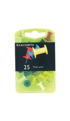 Exacompta - 14740 - Epingle d'affichage 10mm assorti - Boite de 25