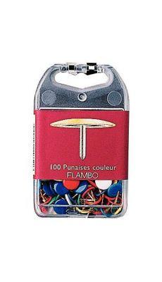Exacompta - 14751 - Punaise diamètre 9mm assorti - Boite de 100