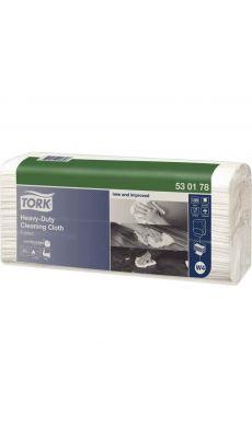 TORK - 53 01 78 - Chiffons multi-usages ultra-résistant blanc - Paquet de 100