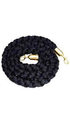 Corde en velours noir avec embout en laiton