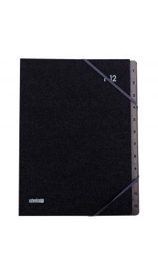 Extendos - 763.12 - Trieur couverture grainée 12 compartiments numériques - Noir