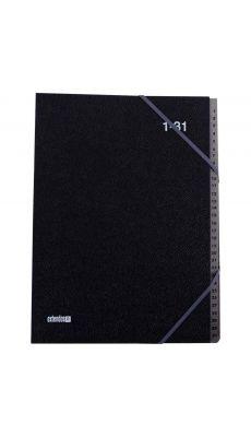 Extendos -  763.31 - Trieur couverture grainée 31 compartiments numériques - Noir