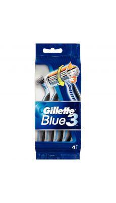 Gillette - 7702018945658 - Rasoir jetable Blue 3 pour homme - Paquet de 4