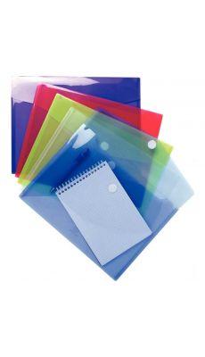 Exacompta  - 56420E - Enveloppe en polypropylène 20/100ème - Format A4 - Coloris assortis - Paquet de 5