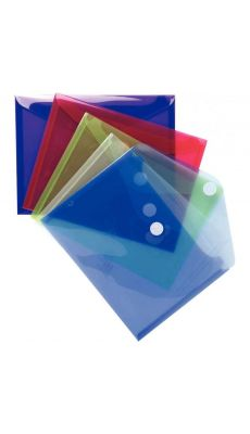 Exacompta  - 56720E - Enveloppe en polypropylène 20/100ème - Format A5 - Coloris assortis - Paquet de 5