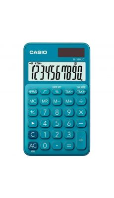 Casio - SL-310UC-BU - Calculatrice de poche 10 chiffres Bleu