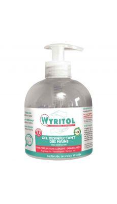 Gel hydroalcoolique désinfectant des mains parfum eucalyptus - Pompe de 300ml