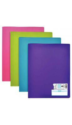 ELBA - 100206069 - Protège-document MEMPHIS 40 pochettes fixes 80 vues couleurs modernes assorties - Carton de 10