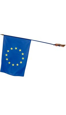 Drapeau EUROPE 60x90cm avec hampe bleu