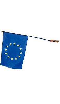 Drapeau EUROPE 100x150cm avec hampe bleu