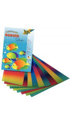 Papier arc en ciel 32x22 - pochette de 10