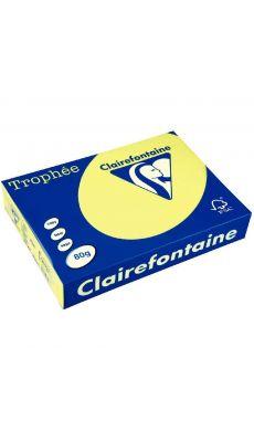 Clairefontaine - 4327 - Ramette papier A3 80g - Jaune fluo - 100 Feuilles