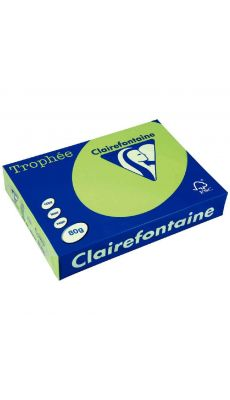 Clairefontaine - 4328 - Ramette papier A3 80g - Vert fluo - 100 Feuilles