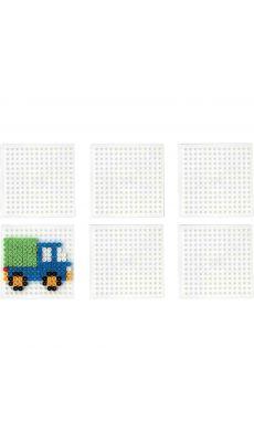 Plaque carrée pour perles Hama taille midi - Sachet de 6