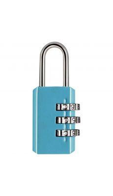 Cadenas en métal à combinaison 3 chiffres bleu