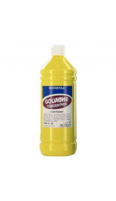 Gouache liquide superieur jaune primaire - Flacon de 1L