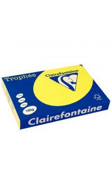Clairefontaine - 1039 - Ramette papier A3 160g - Jaune soleil - 250 Feuilles