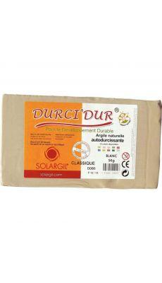 SOLARGIL - Argile naturelle DURCI'DUR Blanc - Pain de 5kg